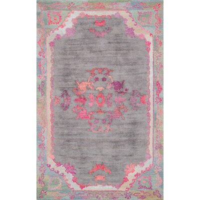 Issil Hand-Tufted Gray Area Rug Rug Size: 4 x 6