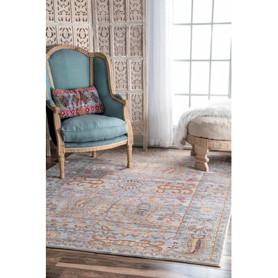 Cherrelle Gray Area Rug Rug Size: Rectangle 9 x 12