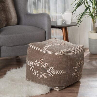 Gladstone Pouf Upholstery: Brown