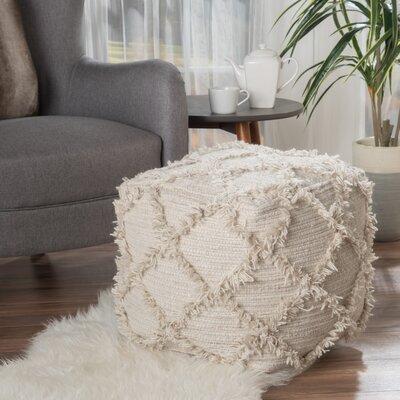 Diana Pouf Upholstery: Ivory