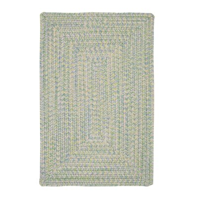 Huntington Hand-Woven Green/Gold Area Rug Rug Size: Oval 5 x 8