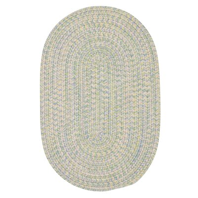Huntington Hand-Woven Green/Gold Area Rug Rug Size: Round 4