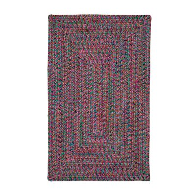 Huntington Hand-Woven Pink/Green Area Rug Rug Size: Square 4