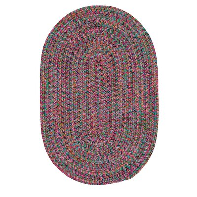 Huntington Hand-Woven Pink/Green Area Rug Rug Size: Round 12