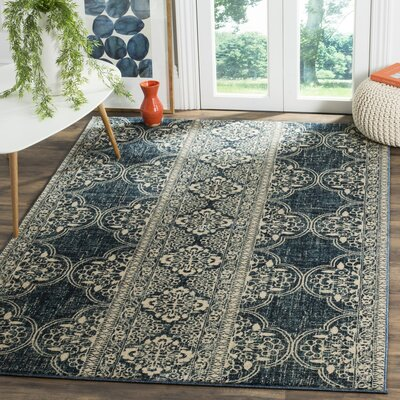 Ferry Royal/Ivory Area Rug Rug Size: Runner 2 X 6