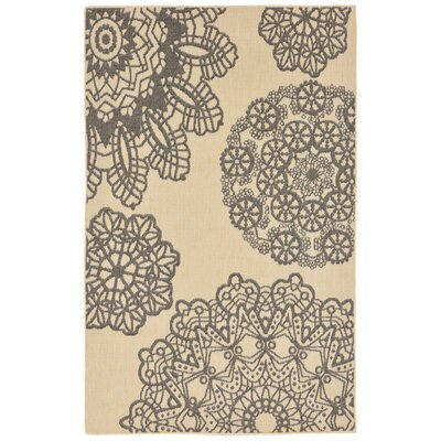 Devondra Crochet Gray/Beige Indoor/Outdoor Area Rug Rug Size: 33 x 411