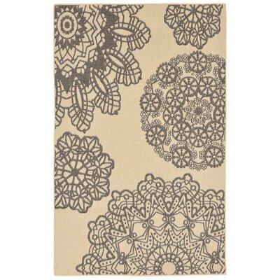 Devondra Crochet Gray/Beige Indoor/Outdoor Area Rug Rug Size: 111 x 211