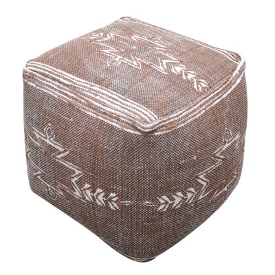 Gladstone Pouf Ottoman Upholstery: Brown
