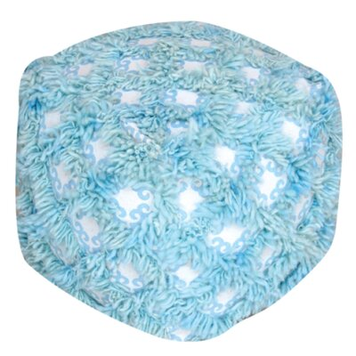 Kitty Pouf Ottoman Upholstery: Aqua