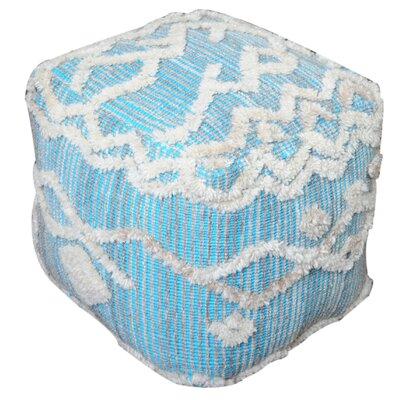 Grafton Pouf Ottoman Upholstery: Aqua