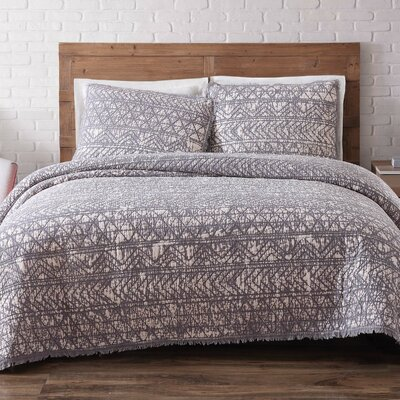 Lobardy Quilt Set Size: Twin XL, Color: Frost Gray