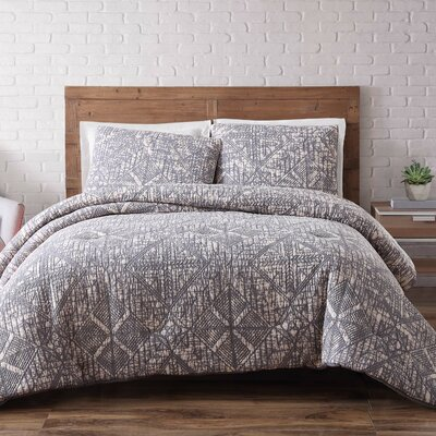 Nichole Comforter Set Size: Full/Queen, Color: Frost Gray
