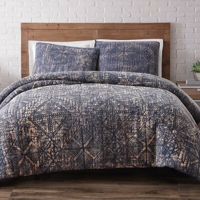 Nichole Comforter Set Size: King, Color: Indigo Blue