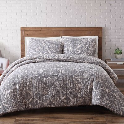 Mira Monte Duvet Set Size: King, Color: Frost Gray