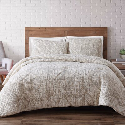 Mira Monte Duvet Set Size: Full/Queen, Color: White Sand