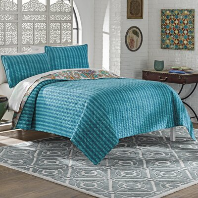 Beaumont 3 Piece Reversible Quilt Set Size: Queen