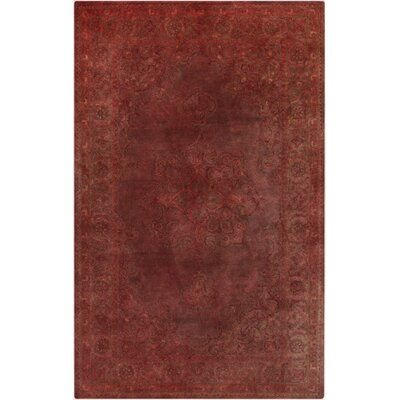 Hulst Burgundy Area Rug Rug Size: Rectangle 33 x 53