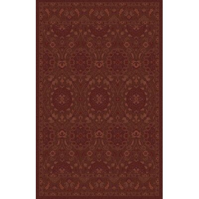 Petange Hand-Tufted Burgundy Area Rug Rug Size: Rectangle 2 x 3