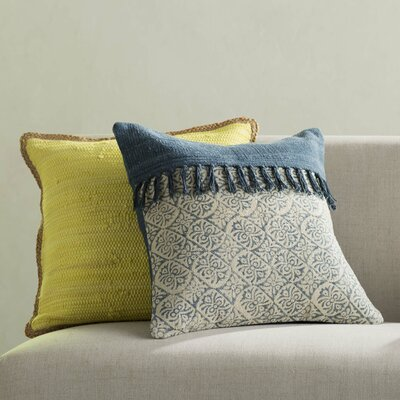 Friedman Patchwork Square Cotton Throw Pillow