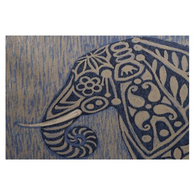 Essehoul Print Blue Indoor/Outdoor Area Rug Rug Size: Rectangle 3 x 5