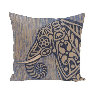 Essehoul Print Throw Pillow Color: Blue, Size: 18 H x 18 W