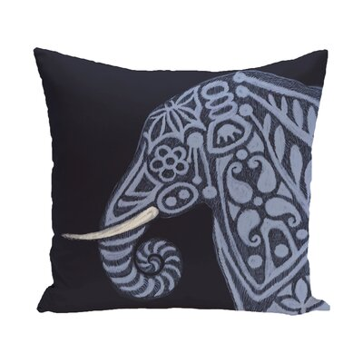 Essehoul Print Throw Pillow Size: 18 H x 18 W, Color: Navy Blue