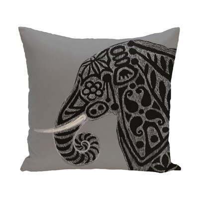 Essehoul Print Throw Pillow Size: 16 H x 16 W, Color: Gray