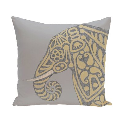 Essehoul Print Throw Pillow Size: 18 H x 18 W, Color: Gold