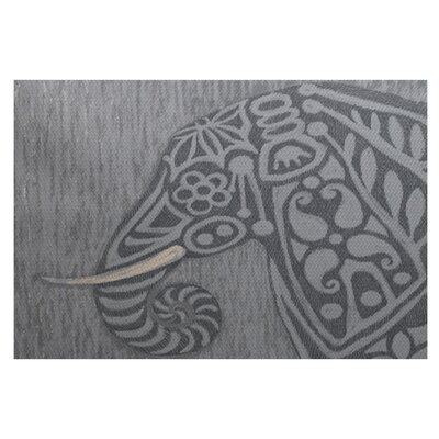 Essehoul Print Gray Indoor/Outdoor Area Rug Rug Size: 3 x 5