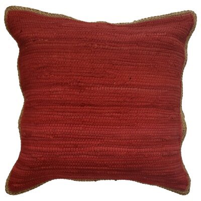 Yarrow Throw Pillow Color: Red