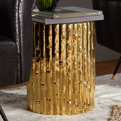 Arroyo Bamboo Garden Stool Color: Gold