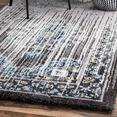 Sirianni Black/Gray Area Rug Rug Size: Rectangle 53 x 76