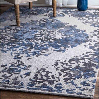 Simek Hand-Tufted Blue/Gray Area Rug Rug Size: 76 x 96