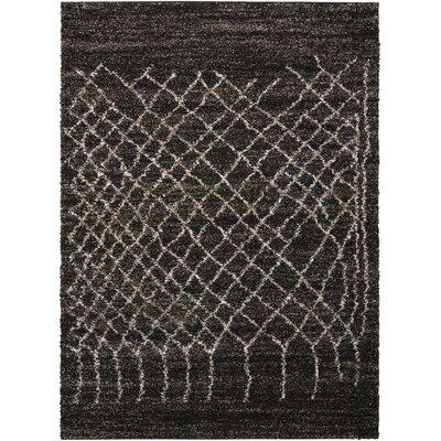 Strassen Black Area Rug Rug Size: Rectangle 5 x 7