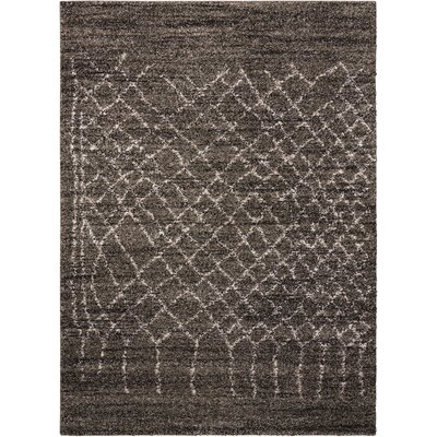 Strassen Charcoal Area Rug Rug Size: Rectangle 5 x 7