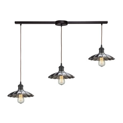 Salamone 3-Light Kitchen Island Pendant Shade Color: Chrome