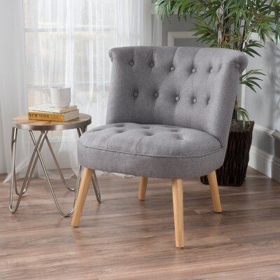 Leudelange Claudia Tufted Slipper Chair Upholstery: Gray