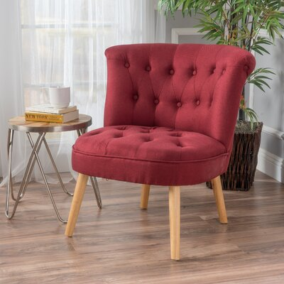 Leudelange Slipper Chair Upholstery: Deep Red