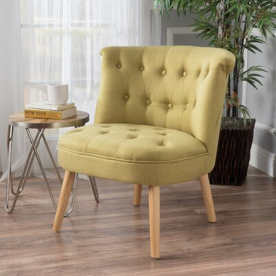 Leudelange Slipper Chair Upholstery: Light Green