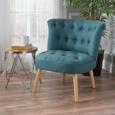 Leudelange Claudia Tufted Slipper Chair Upholstery: Dark Teal