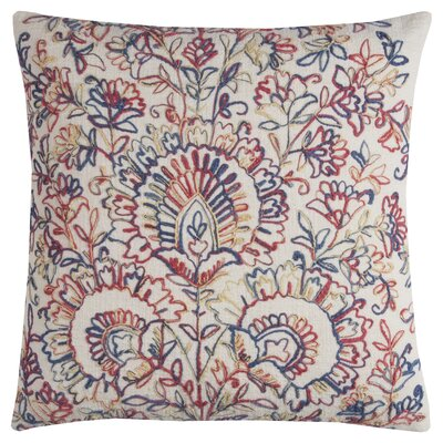 Cerise Cotton Throw Pillow