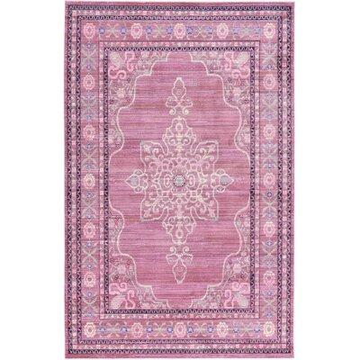 Bradford Pink Area Rug Rug Size: 5 x 8