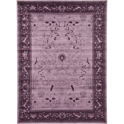 Chappel Purple Area Rug Rug Size: 8 x 11