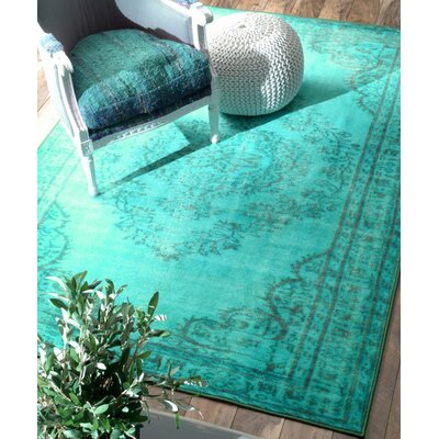 Ber Turquoise Area Rug Rug Size: Rectangle 4 x 6