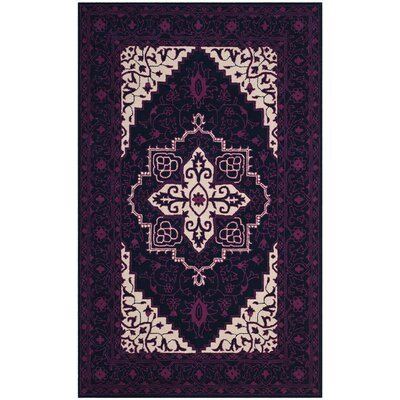 Io Hand-Tufted Purple Area Rug Rug Size: 26 x 4