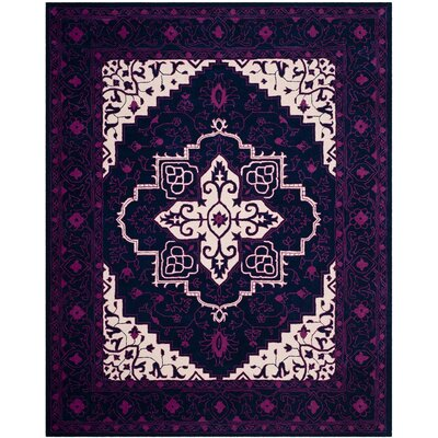 Io Hand-Tufted Purple Area Rug Rug Size: 8 x 10