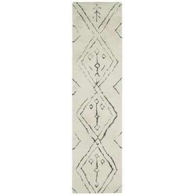 Lockheart Hand-Woven Beige Area Rug Rug Size: Runner 23 x 8