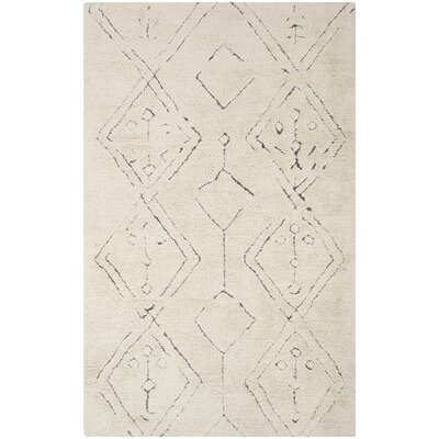 Lockheart Hand-Woven Beige Area Rug Rug Size: Rectangle 6 x 9