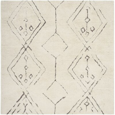 Lockheart Hand-Woven Beige Area Rug Rug Size: Square 6
