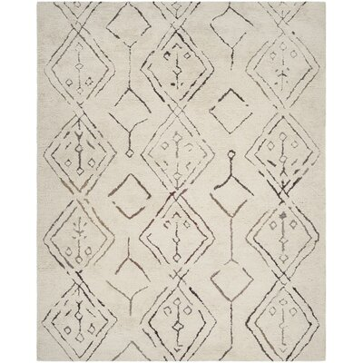 Lockheart Hand-Woven Beige Area Rug Rug Size: Rectangle 8 x 10